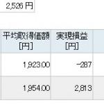 株トレード+2,526円|空売り逆張りで利食い